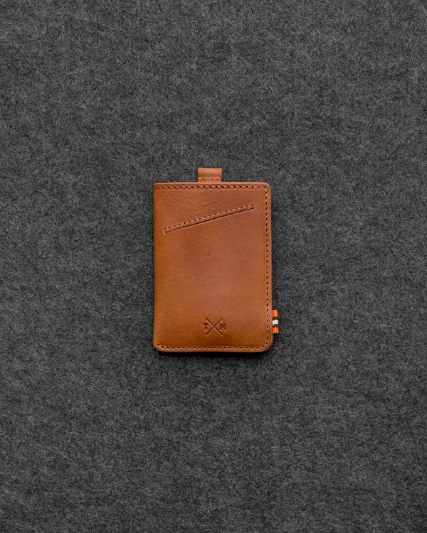 Tan Chukka Leather Adept Card Holder a