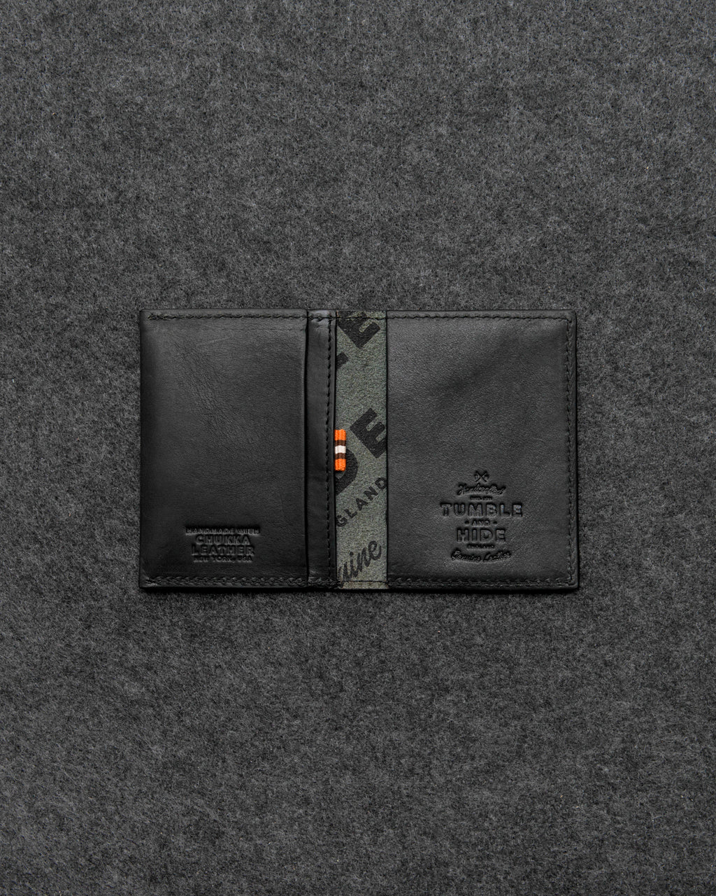 Black Chukka Leather Card Holder a