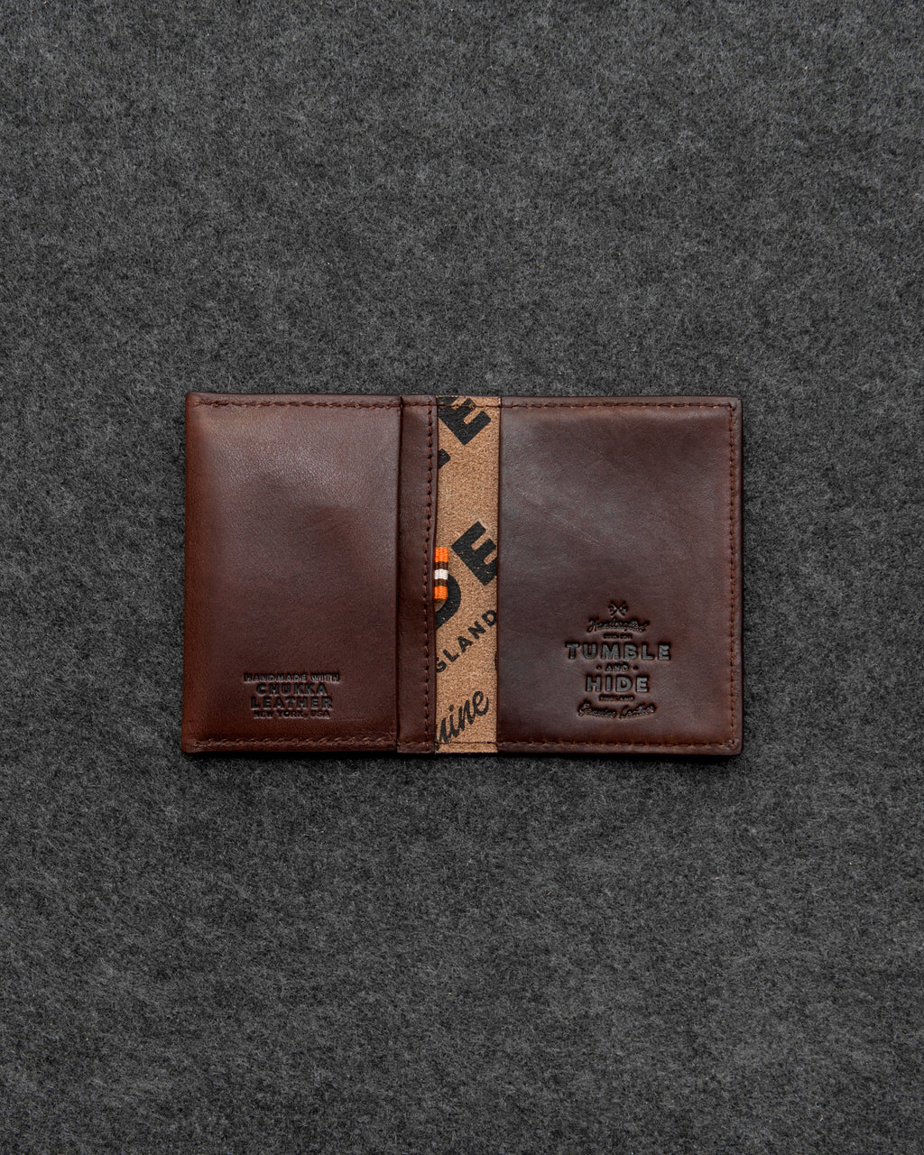 Brown Chukka Leather Card Holder a