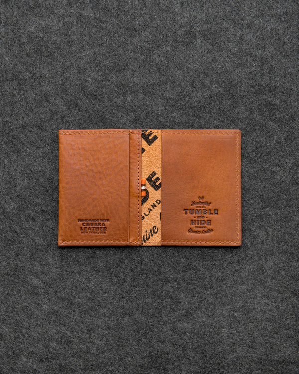 Tan Chukka Leather Card Holder a