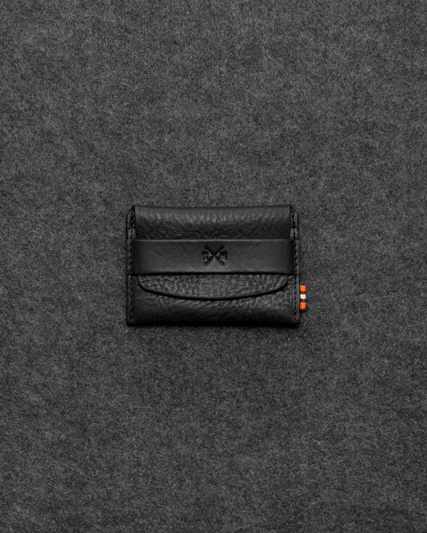 Black Chukka Leather Card Pouch a