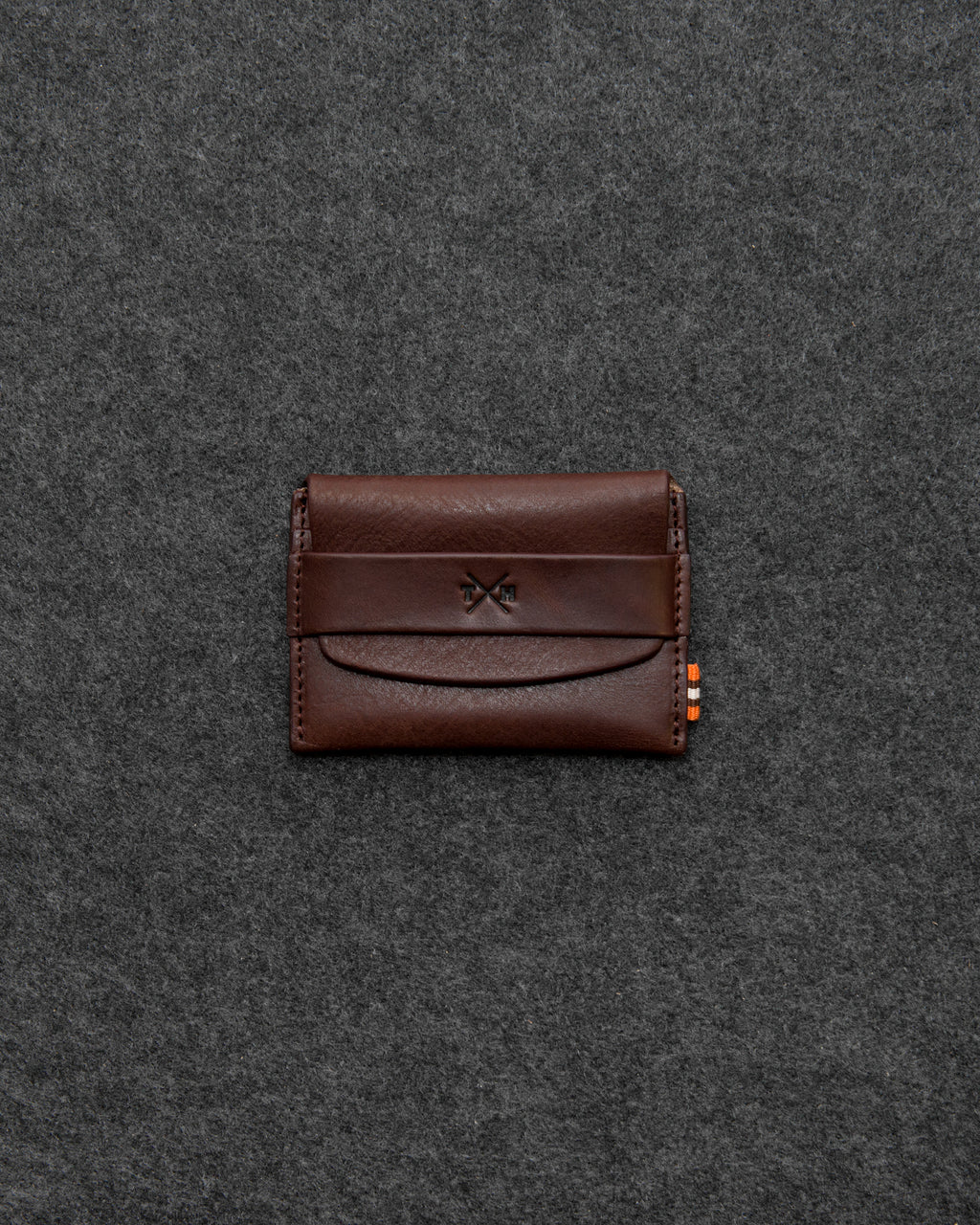 Brown Chukka Leather Card Pouch a
