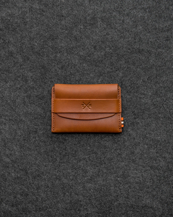 Tan Chukka Leather Card Pouch a