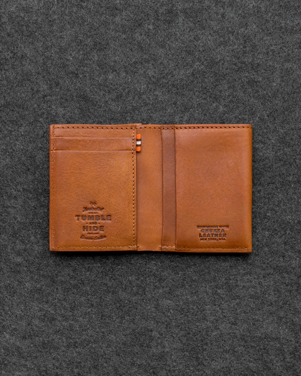 Tan Chukka Leather Card Wallet a