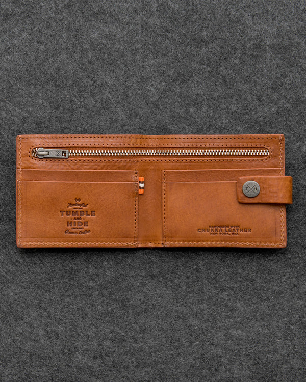 Tan Chukka Leather Classic Wallet a