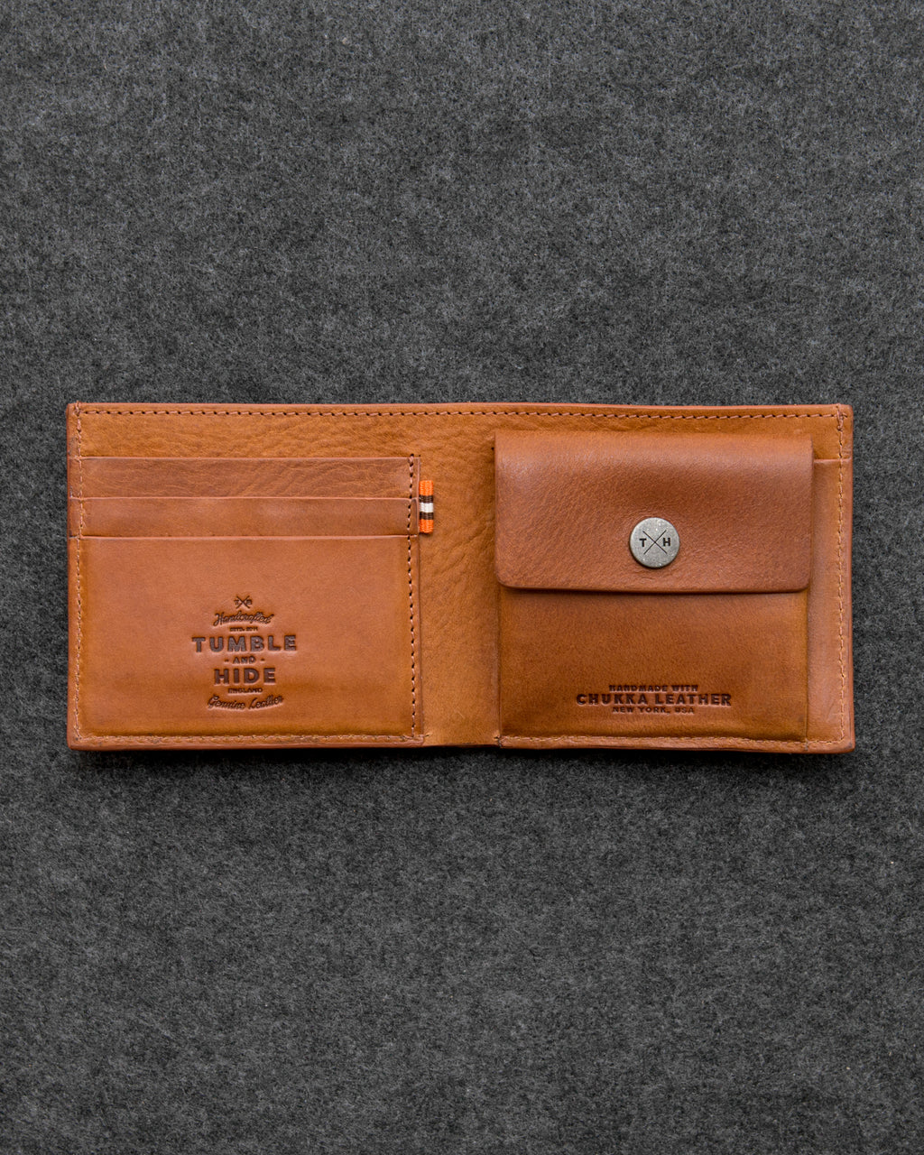 Tan Chukka Leather Coin Pocket Wallet a