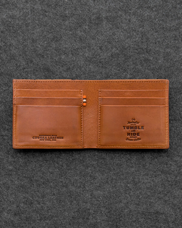 Tan Chukka Leather East West Wallet a