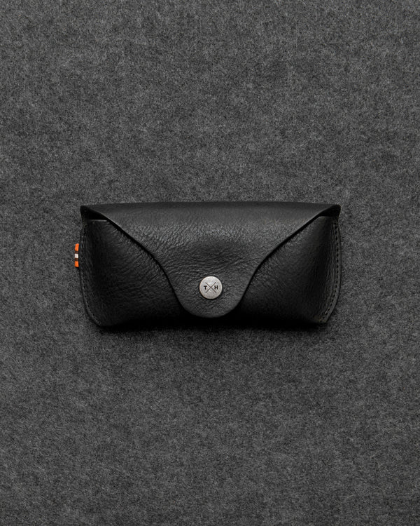 Black Chukka Leather Glasses Case a