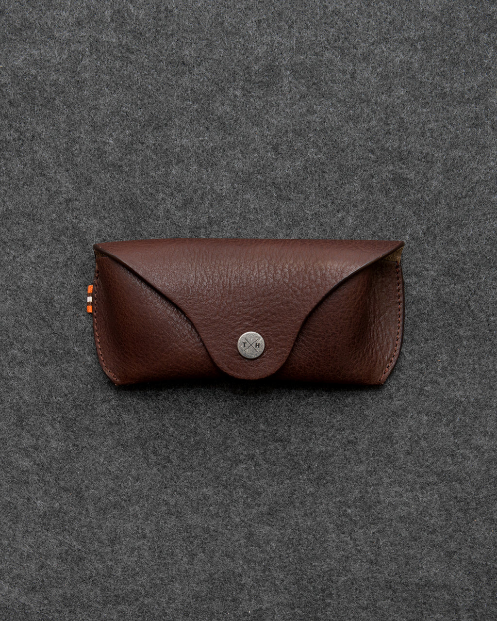 Brown Chukka Leather Glasses Case a