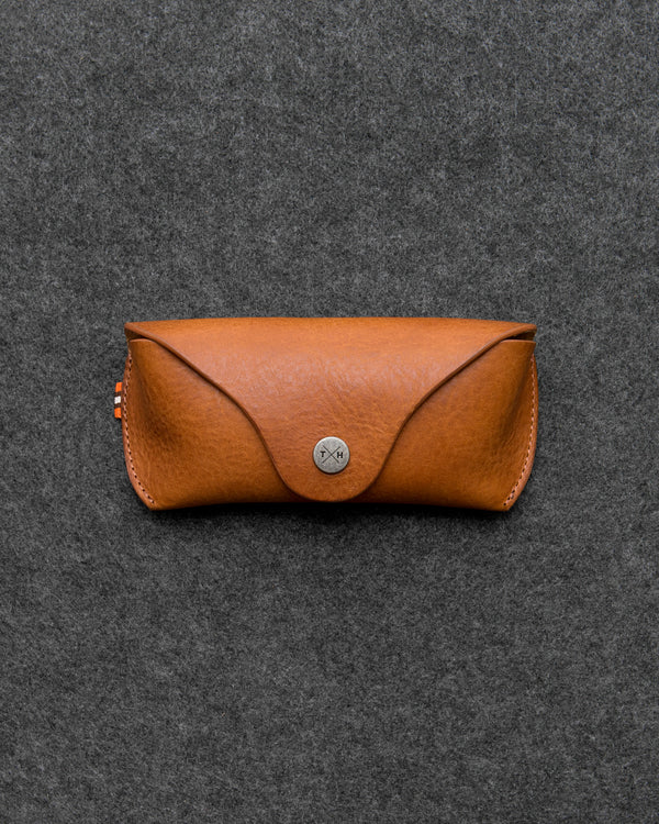 Tan Chukka Leather Glasses Case a