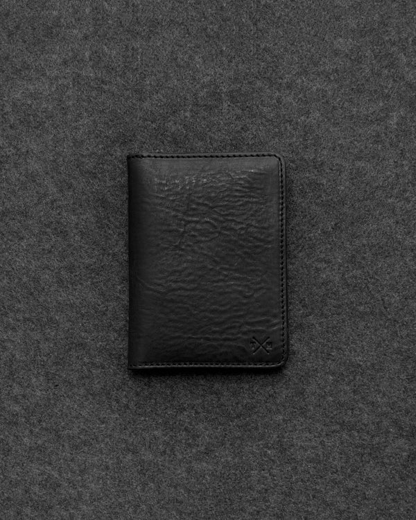 Black Chukka Leather Passport Holder a