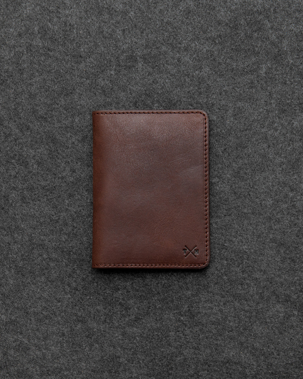 Brown Chukka Leather Passport Holder a
