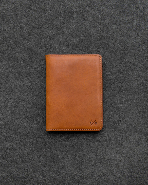 Tan Chukka Leather Passport Holder a