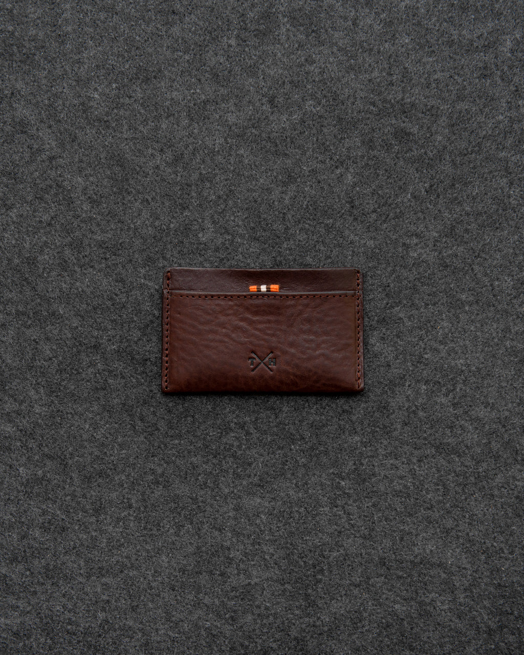 Brown Chukka Leather Ultra Slim Card Holder a