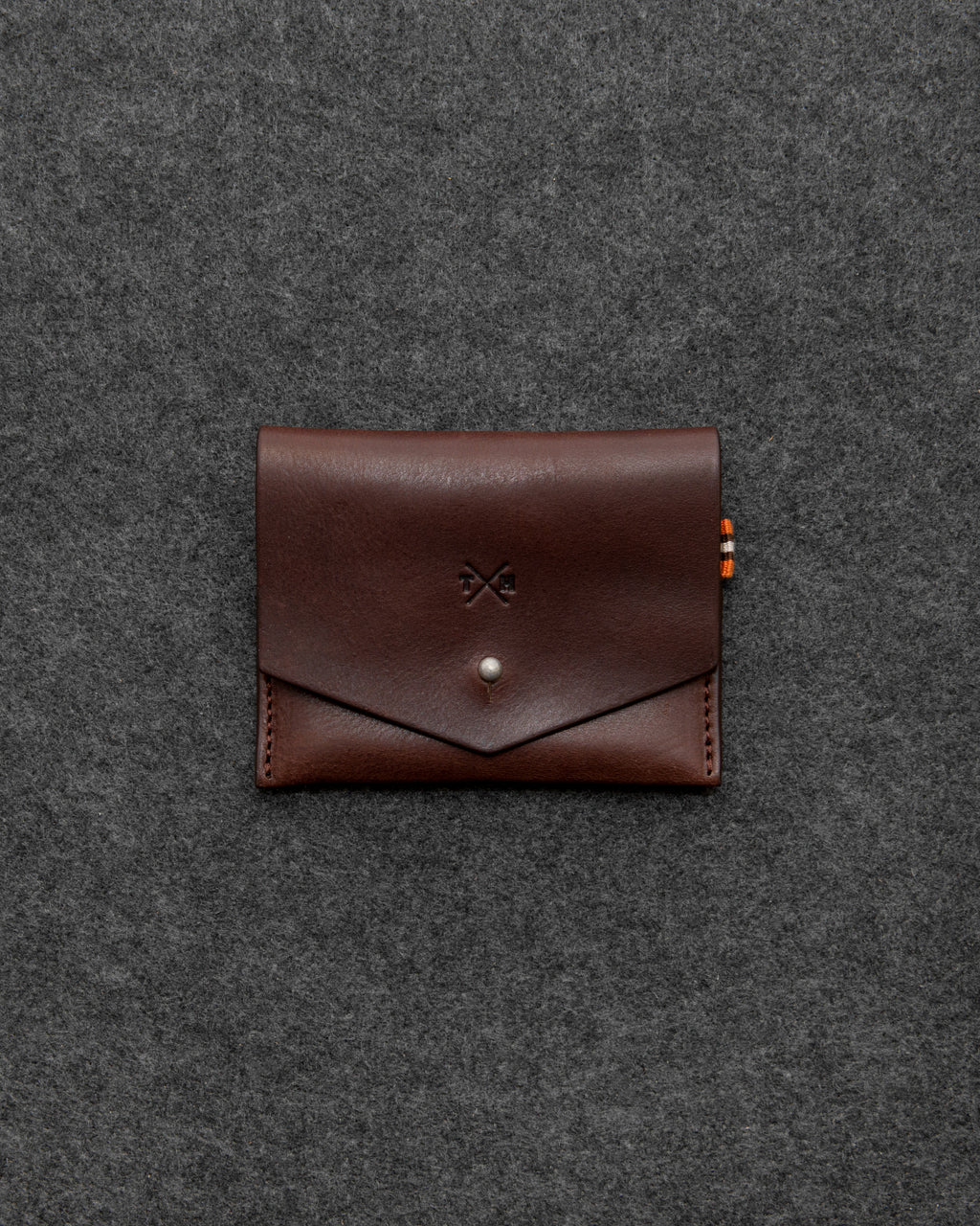 Brown Chukka Leather Slim Purse a
