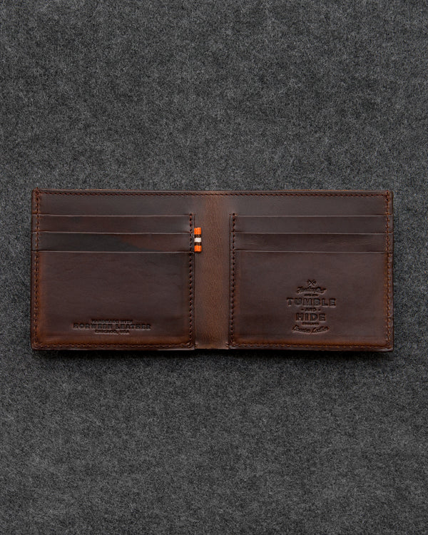 Brown Horween Leather East West Wallet a