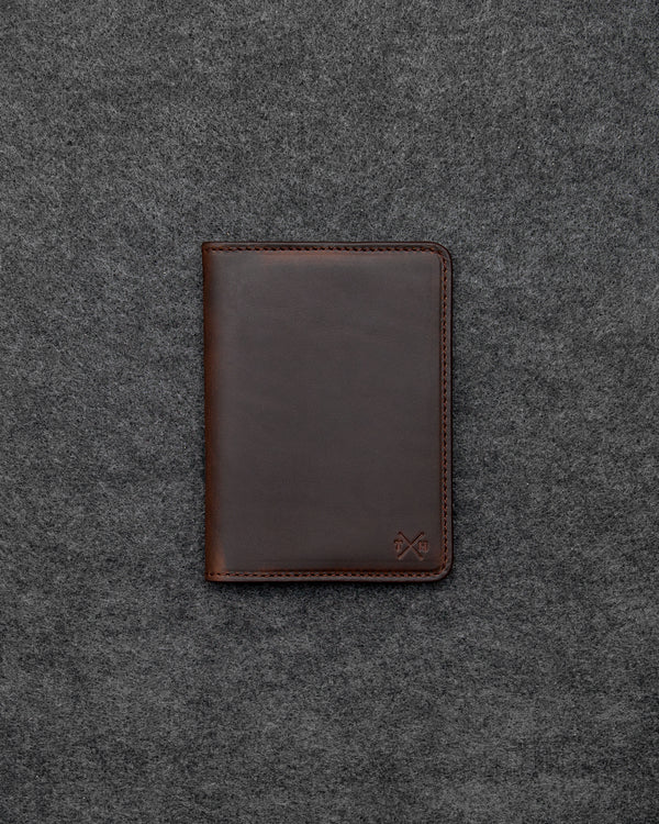Brown Horween Leather Passport Holder b