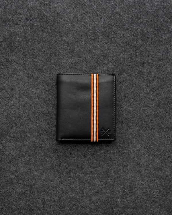 Black Newton Leather Elastic Abridged Wallet c