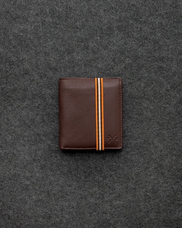 Brown Newton Leather Elastic Abridged Wallet b