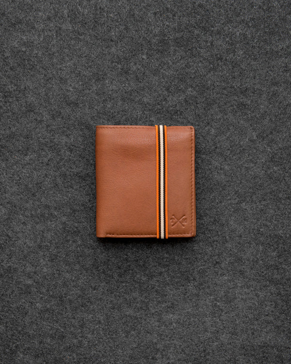 Tan Newton Leather Elastic Abridged Wallet b