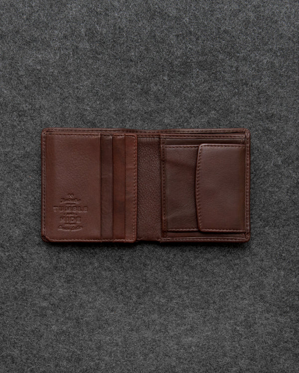 Brown Newton Leather Abridged Wallet a