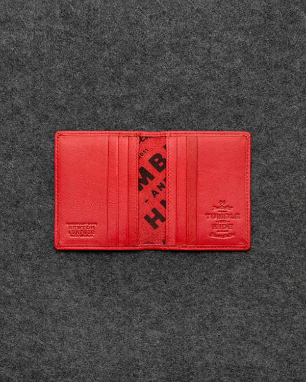 Red Newton Leather Basal Card Holder a