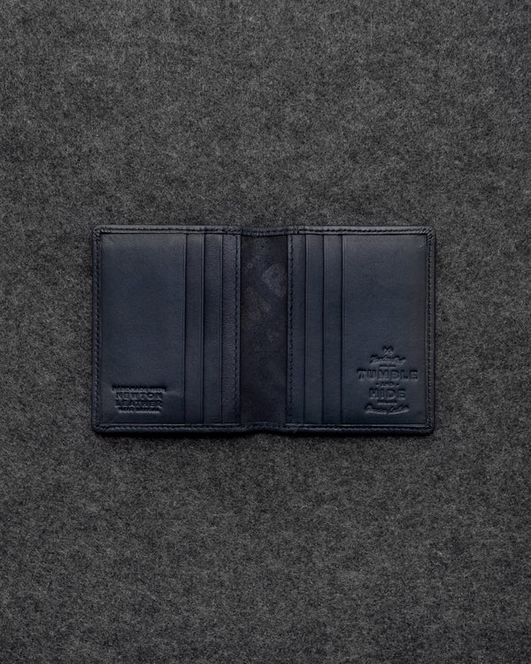 Navy Newton Leather Basal Card Holder a