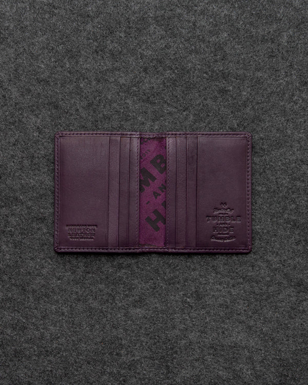 Purple Newton Leather Basal Card Holder a
