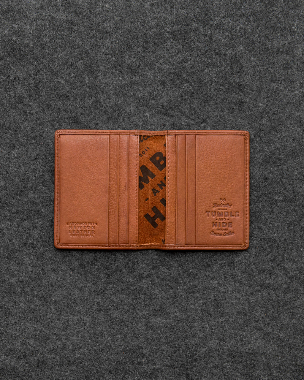 Tan Newton Leather Basal Card Holder a