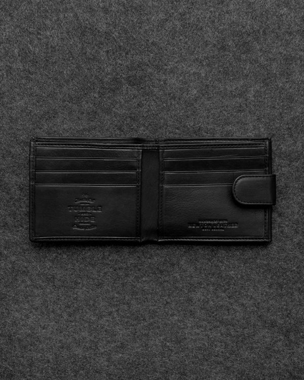 Black Newton Leather Basal Tray Wallet a