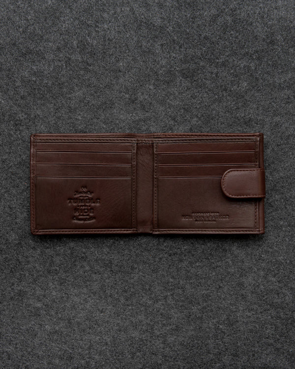 Brown Newton Leather Basal Tray Wallet a