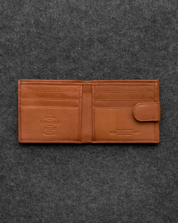 Tan Newton Leather Basal Tray Wallet a