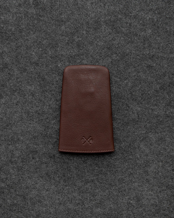 Brown Newton Leather Bell Keycase a