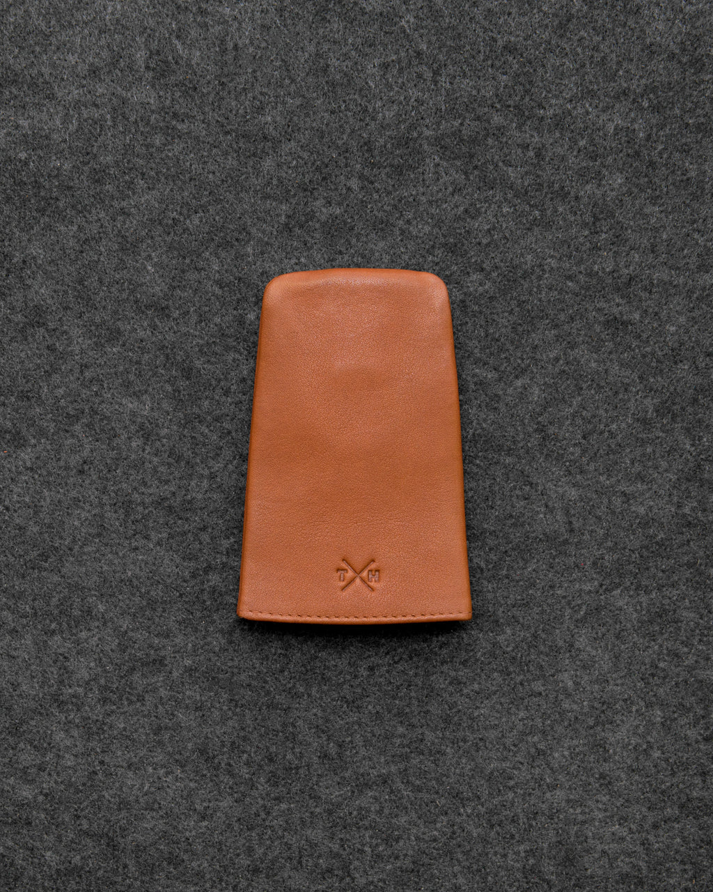Tan Newton Leather Bell Keycase a