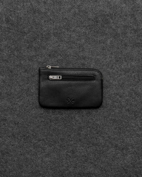 Black Newton Leather Classic Keycase a