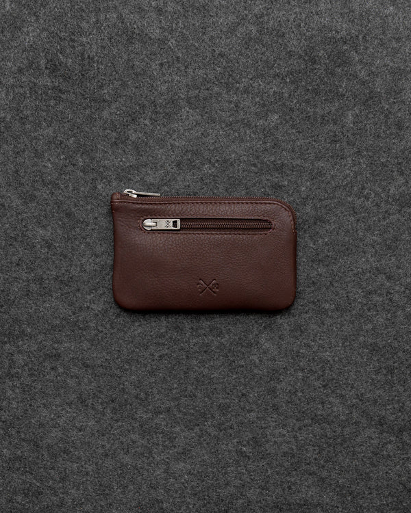 Brown Newton Leather Classic Keycase a