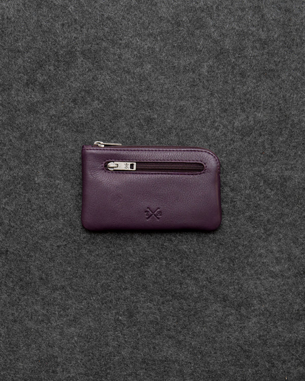 Purple Newton Leather Classic Keycase a