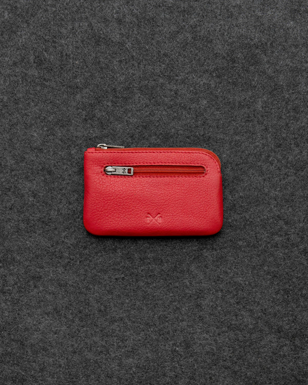 Red Newton Leather Classic Keycase a