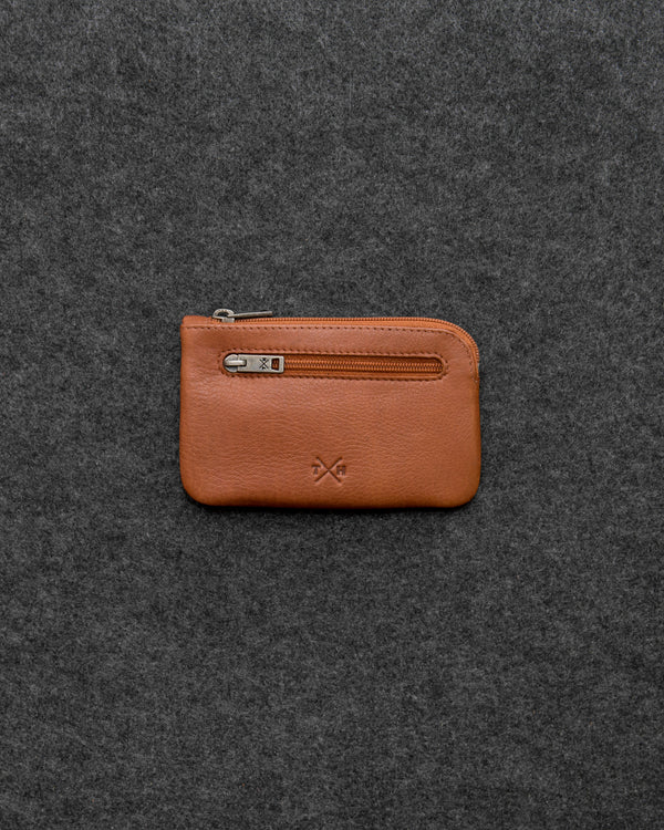 Tan Newton Leather Classic Keycase a
