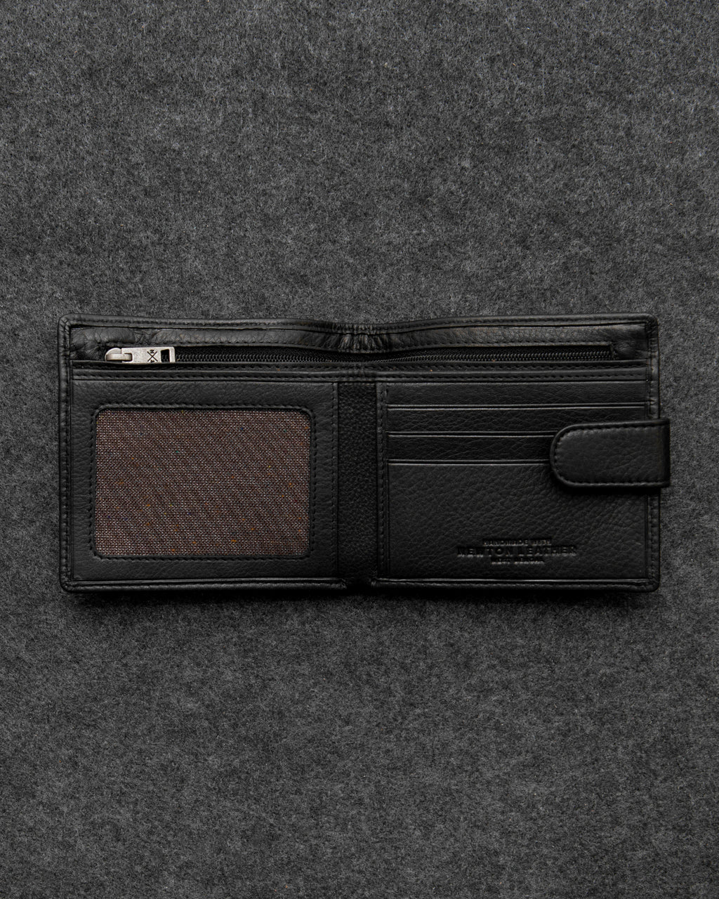 Black Newton Leather Classic Wallet a