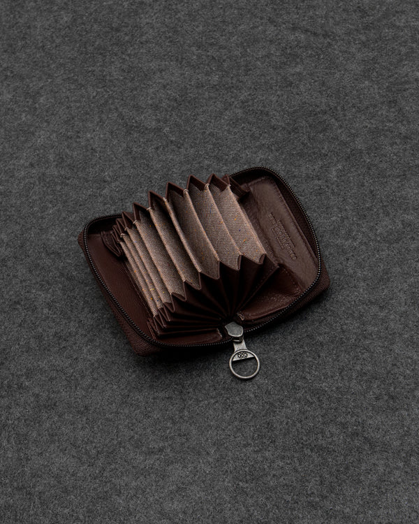 Brown Newton Leather Concertina Card Holder a