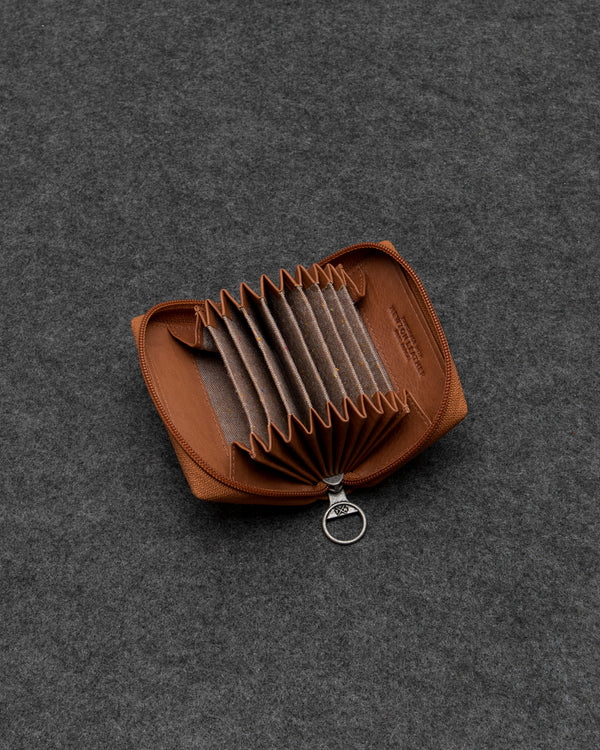 Tan Newton Leather Concertina Card Holder a