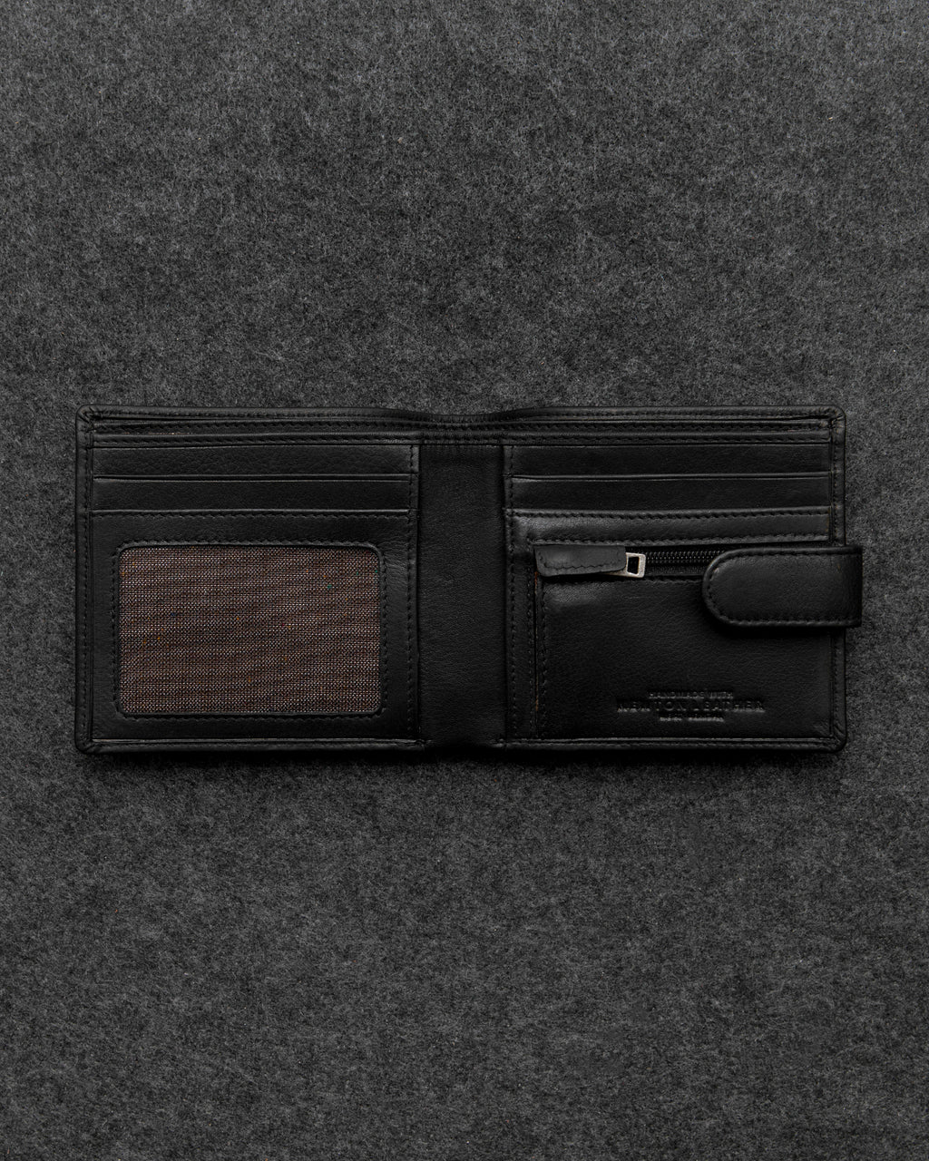 Black Newton Leather Contemporary Wallet a