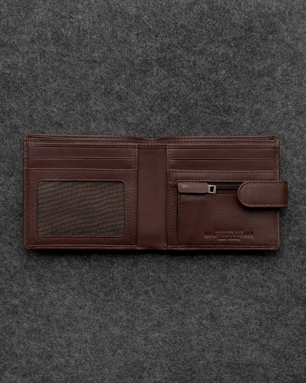 Brown Newton Leather Contemporary Wallet a