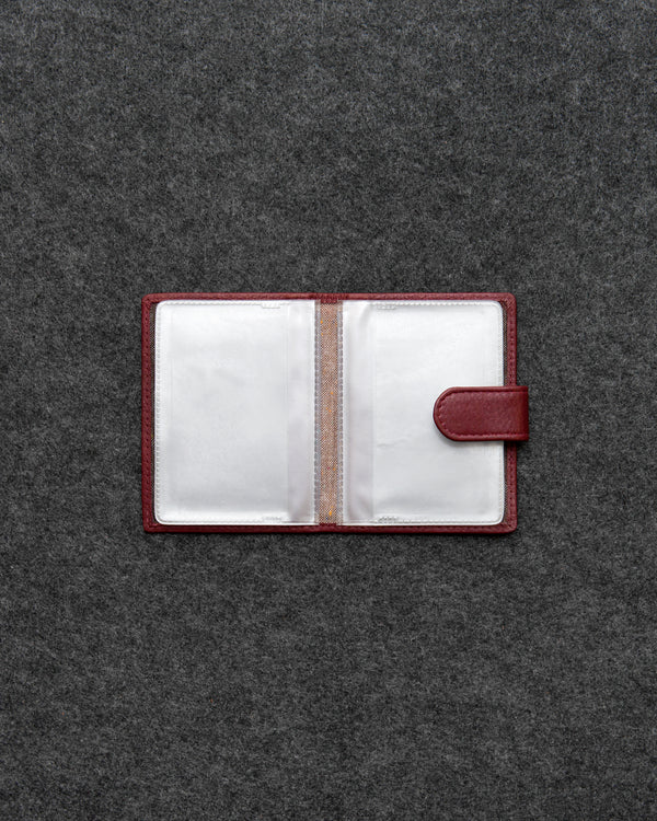 Oxblood Newton Leather And Plastic Tab Card Holder a