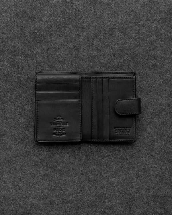 Black Newton Leather Card Holder Wallet a