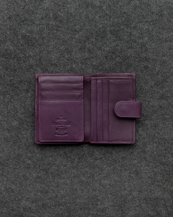 Purple Newton Leather Card Holder Wallet a