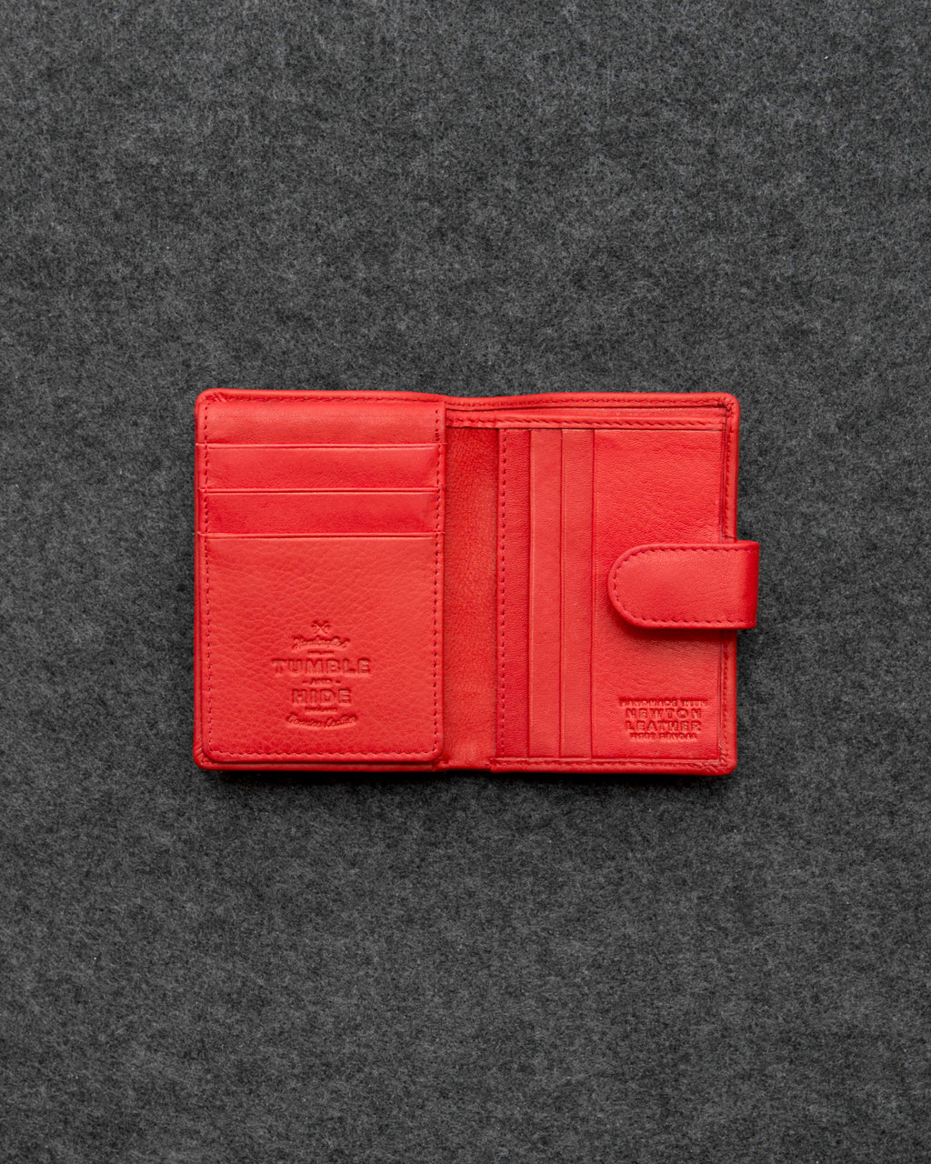 Red Newton Leather Card Holder Wallet a