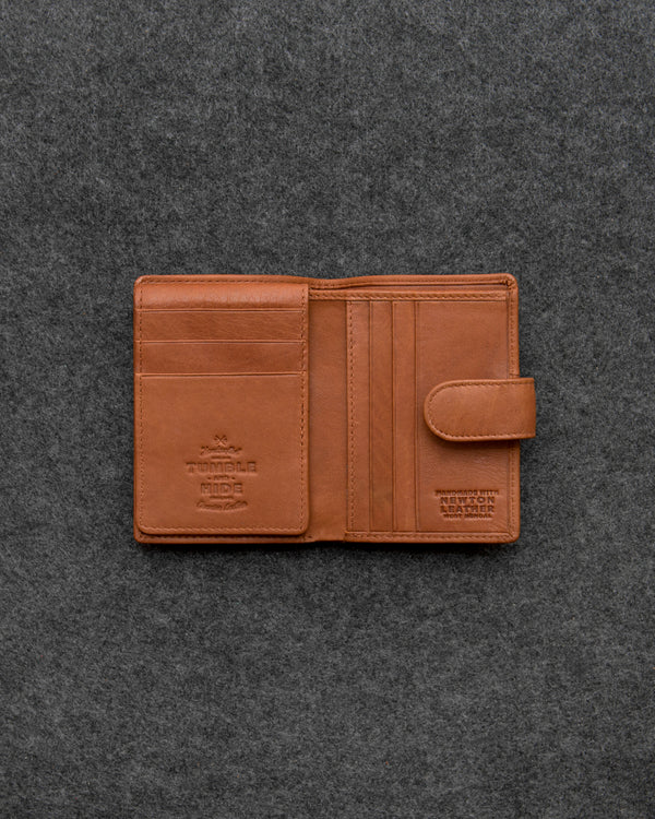Tan Newton Leather Card Holder Wallet a