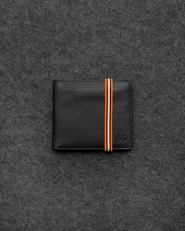 Black Newton Leather Elastic East West Basal Wallet b